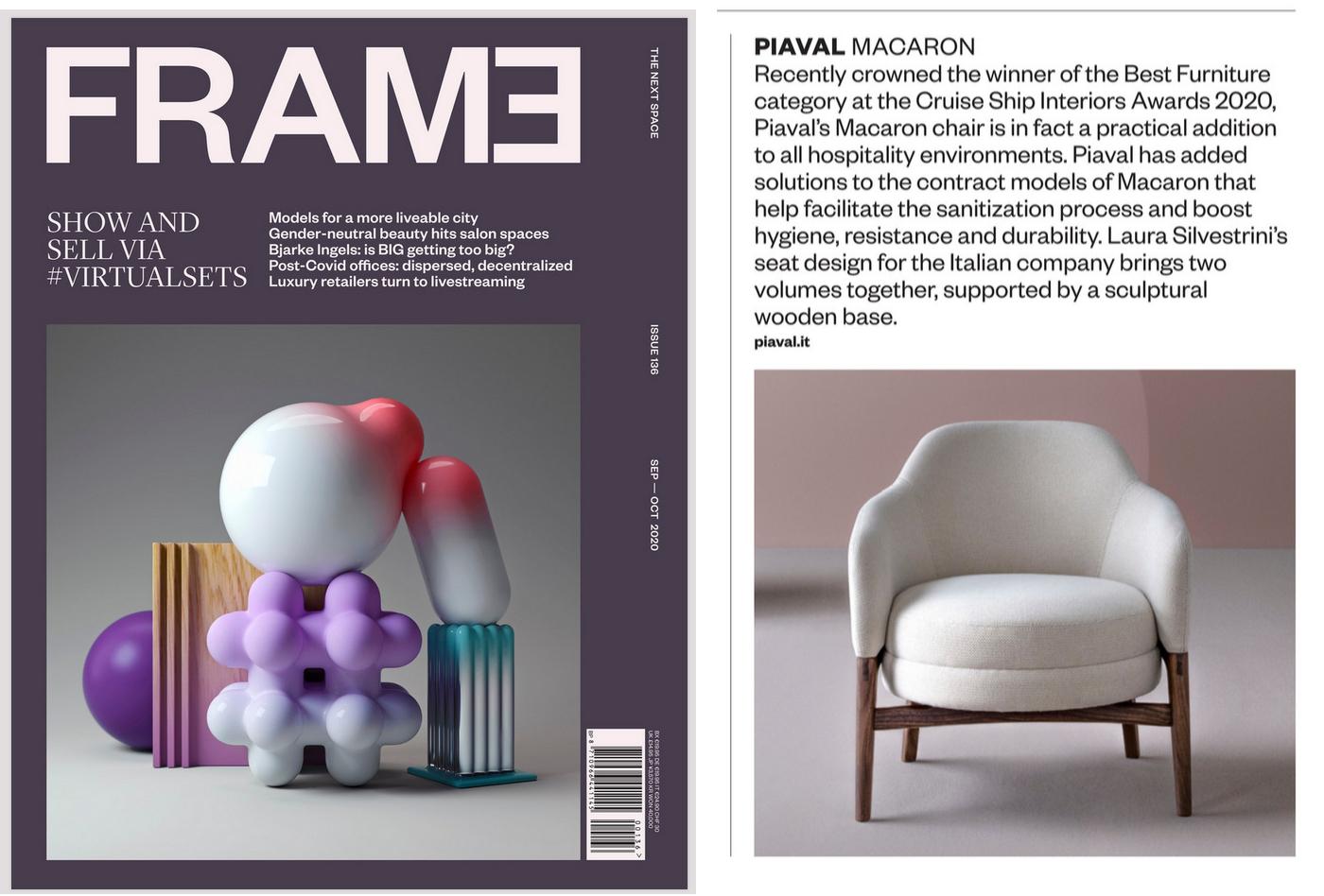 Macaron lounge featured on Frame magazine