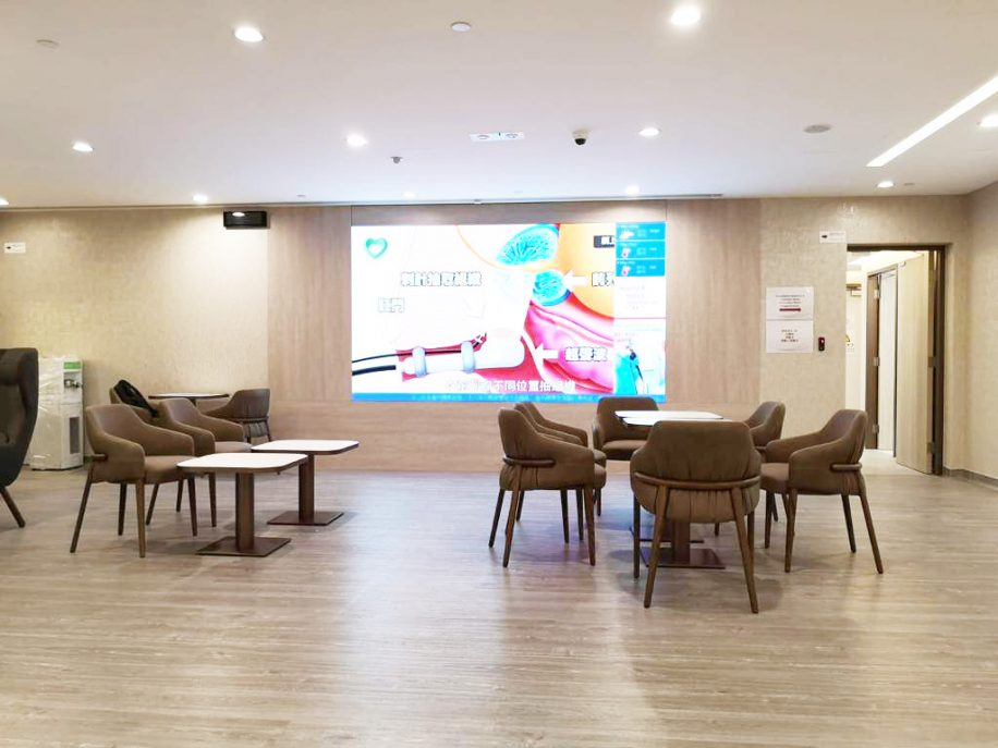 Waiting area at the Taikoo Clinc furnished with Trench armchairs