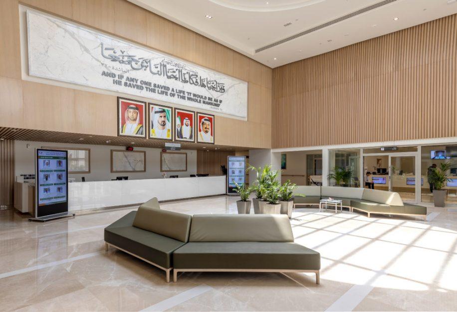 Cameo modular sofa in the big hall of the Saudi German Hospital
