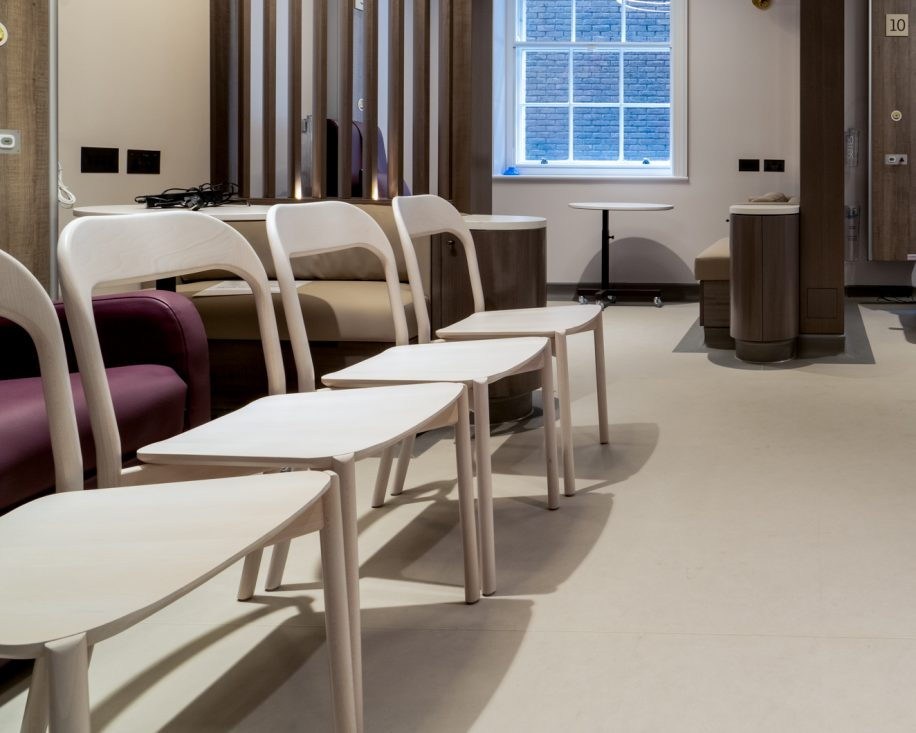 Earl chairs furnish the brand-new Royal Marsden Hospital in London