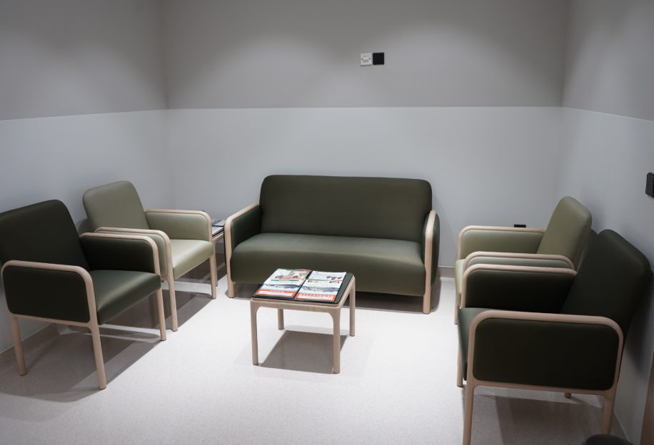 Waiting area of the Saudi German Hospital furnished with the Cameo collection
