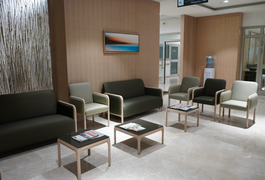 Cameo sofa, armchairs and coffee tables for the waiting ara of the Saudi German Hospital