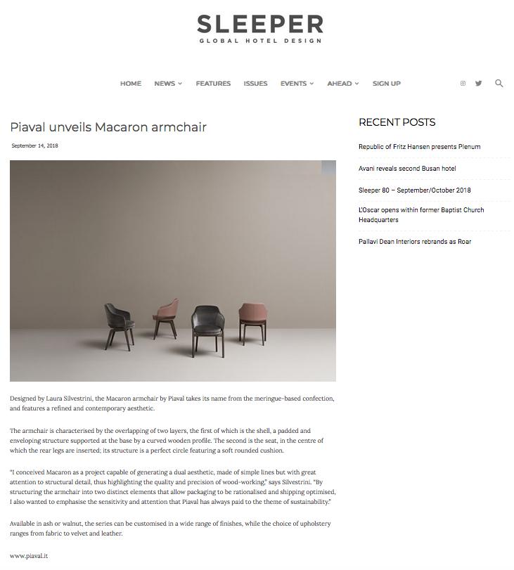 Macaron armchair on Sleeper magazine
