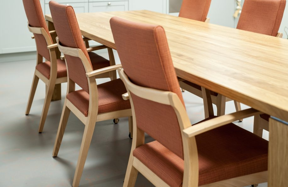 Mamy chairs in the dining room of the Residential Care Centre in Vlissingen