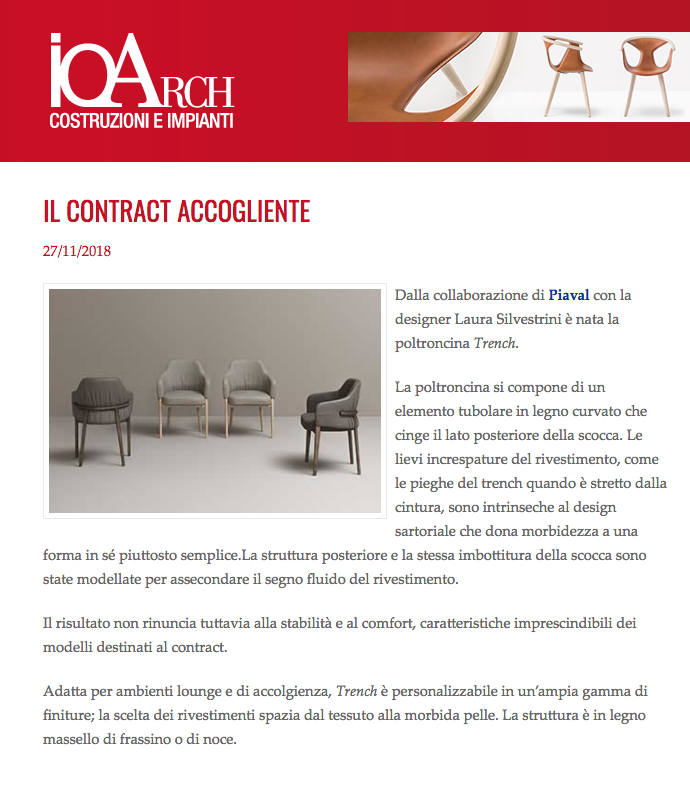Trench armchair on IoArch