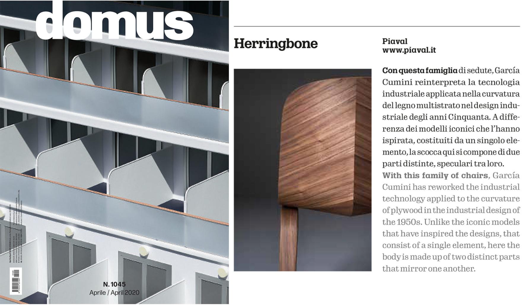 Herringbone chair on Domus magazine