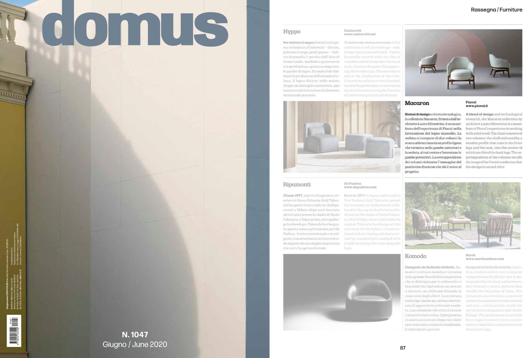 Macaron llounge featured on domus magazine