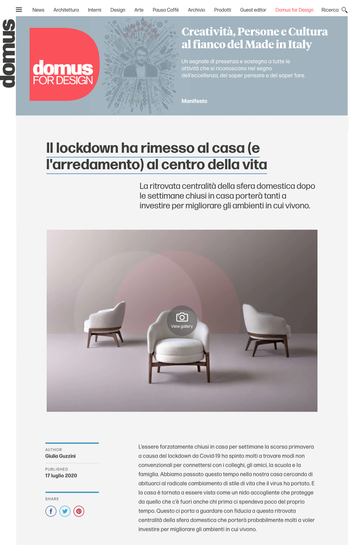 Domus web features Macaron lounge