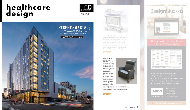 Piaval armchair on Healthcare Design magazine