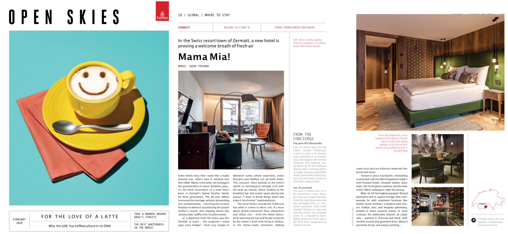 Trench armchair at Zermama Hotel on Openskies