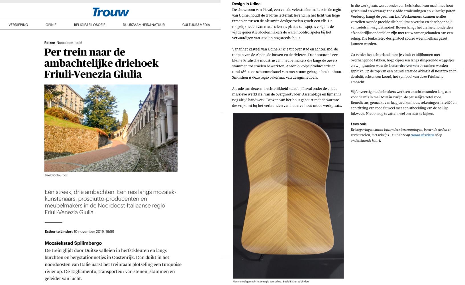 Herringbone chair on Trouw magazine