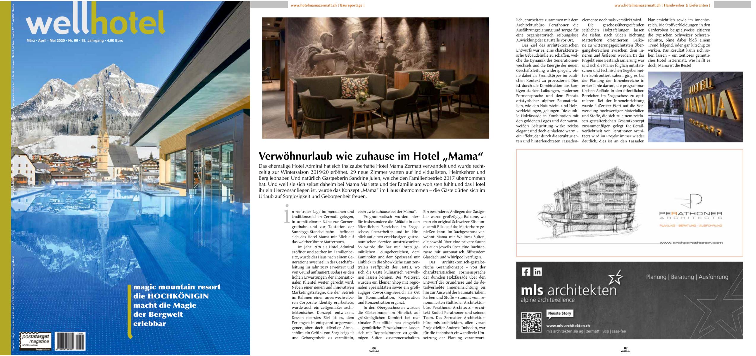 Trench armchair in Hotel Zermama featured by Wellhotel magazine